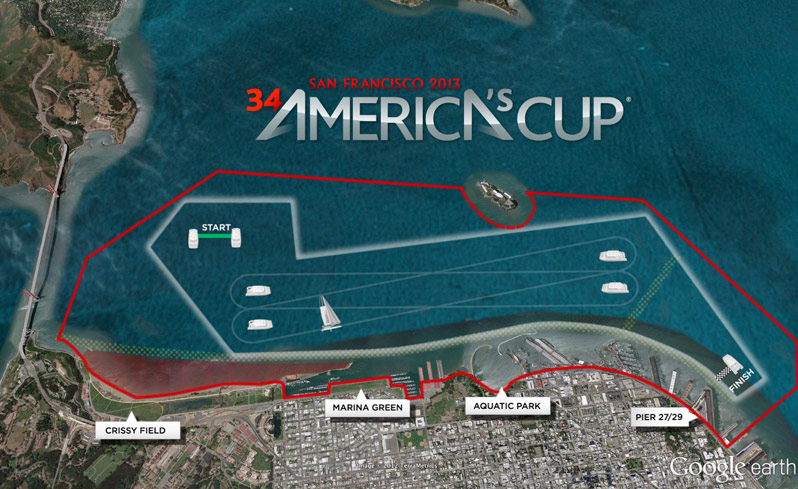 Pier 27 San Francisco Map.America S Cup 2013 San Francisco Event Plan Renderings From Cupinfo