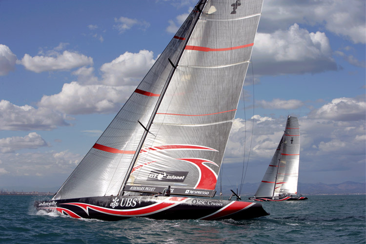 louis vuitton - alinghi training with new look  spring 2006