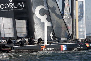 Energy was one of two boats to bring home their first ACWS fleet race win on Sunday.  Photo:�2011 ACEA/Gilles Martin-Raget