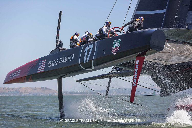 Oracle Boat #2.  Photo: �2013 Oracle Team USA/Guilain Grenier