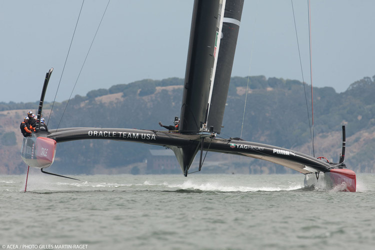 Oracle Team USA boat #2.  Photo:�2013 ACEA/Gilles Martin-Raget