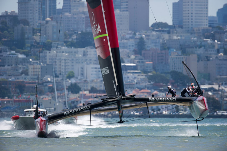 Emirates Team New Zealand Boat #2.  Photo:�2013 Chris Cameron/ETNZ